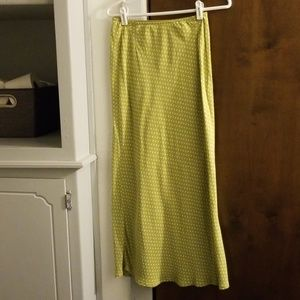 Eddie Bauer Green/White Polka-dot Skirt SZ 4
